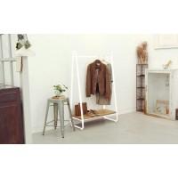Вешалка для одежды в стиле лофт белая
