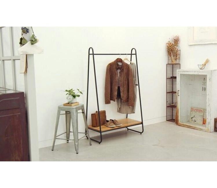 Вешалка для одежды Альта в стиле лофт черная