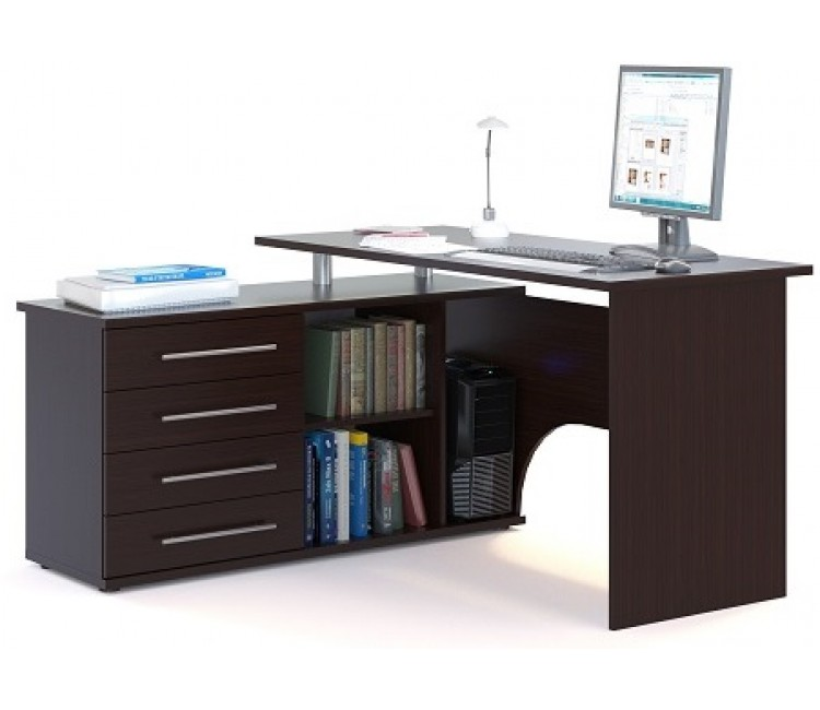 Компьютерный стол Тэкс Грета-16 левый венге