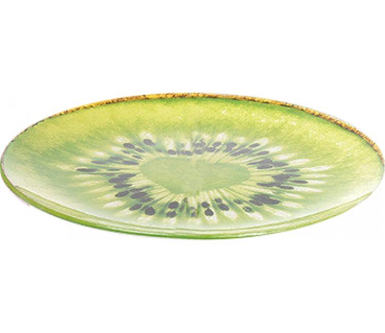 Тарелка стеклянная Альта киви