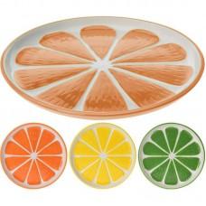 Тарелка керамическая Альта 17см апельсин