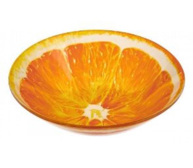 Миска стеклянная Альта апельсин