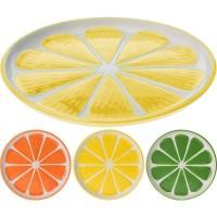 Тарелка керамическая Альта лимон