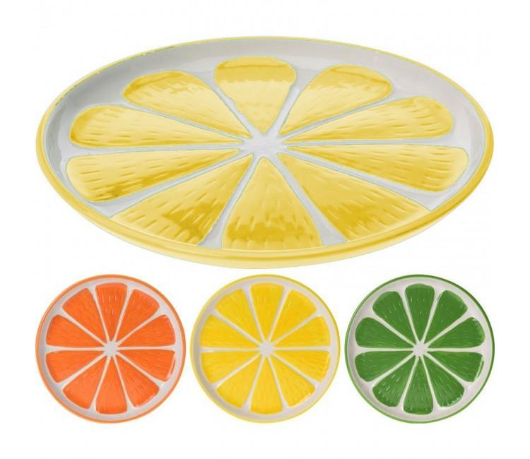 Тарелка керамическая Альта 22см лимон