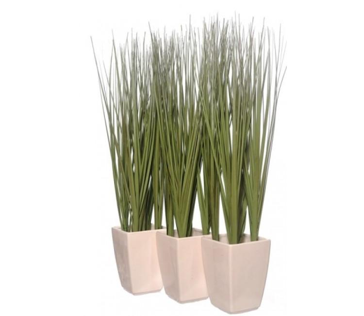 Искусственное растение Альта трава в керамическом горшке