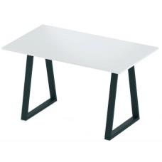 Стол нераздвижной 74х128 Альта LOFT U белый мат опора черная