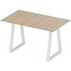 Стол нераздвижной 74х128 Альта LOFT U сосна янтарная опора белая