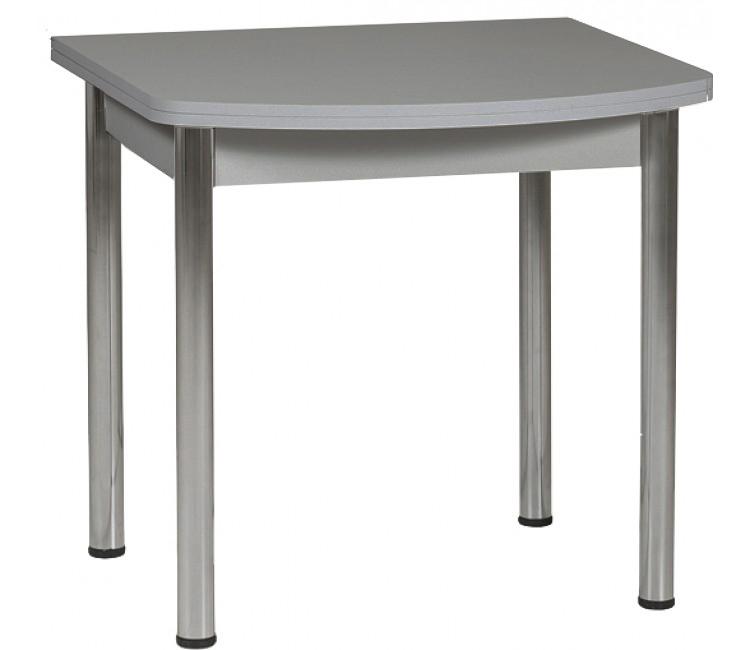 Раздвижной стол Форт Ломберный Евро 80х60 серый ноги хром