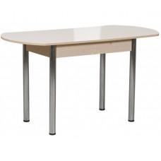 Раздвижной стол Форт Европейский кремовый глянец ноги хром