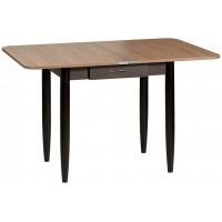 Раздвижной стол Форт Ломберный с ящиком 80х60 венге шимо темный