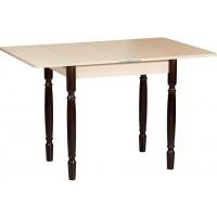 Раздвижной стол Форт Ломберный 80х60 беленый дуб ноги точеные