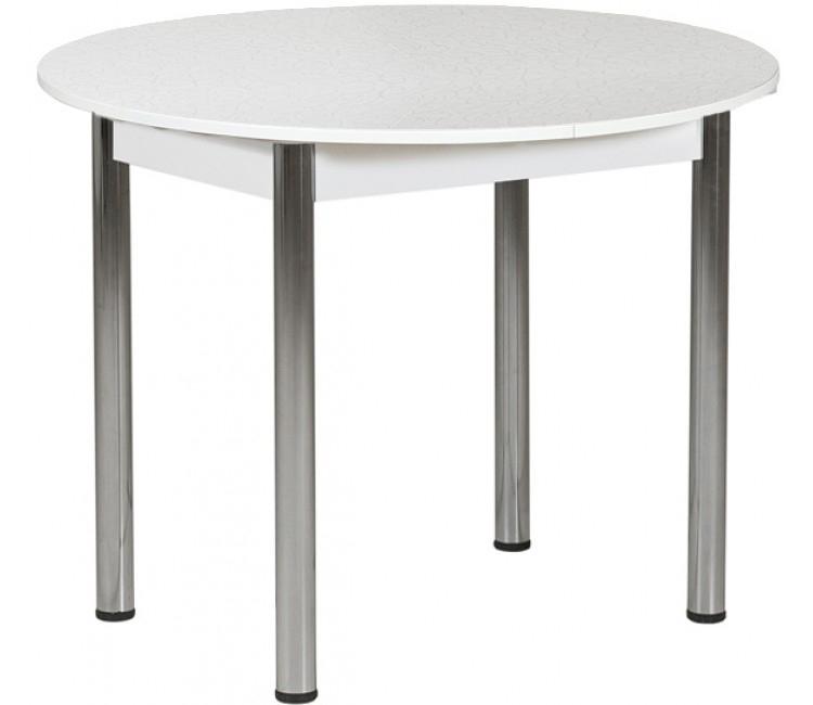 Раздвижной стол Форт Круглый серебристая лоза ноги хром