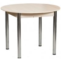 Раздвижной стол Форт Круглый млечный дуб ноги хром