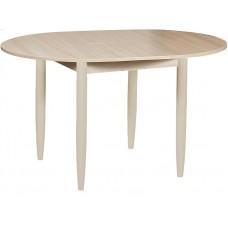 Кухонный обеденный раздвижной стол Форт Круглый шимо светлый ноги хром