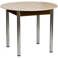 Раздвижной стол Форт Круглый шимо светлый венге ноги хром