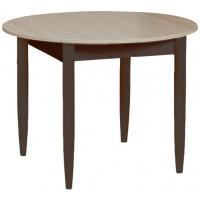 Раздвижной стол Форт Круглый шимо светлый венге ноги конус