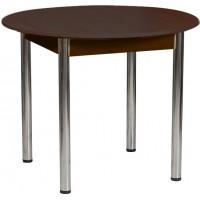 Раздвижной стол Форт Круглый венге ноги хром