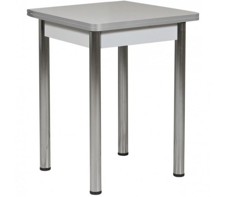 Раздвижной стол Форт Ломберный 60х60 серый ноги хром
