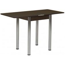 Раздвижной стол Форт Ломберный 60х60 венге ноги хром