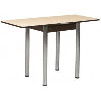 Раздвижной стол Форт Ломберный 60х60 шимо светлый венге ноги хром
