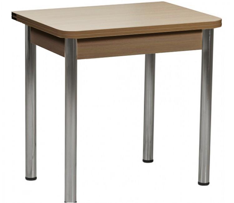 Раздвижной стол Форт Ломберный 80х60 шимо светлый  шимо темный ноги хром