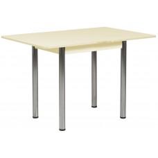 Раздвижной стол Форт Ломберный 80х60 ваниль ноги хром