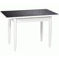 Раздвижной стол Форт Прямоугольный 32 черная кожа ноги конус