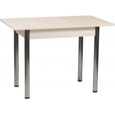 Кухонный обеденный раздвижной стол Форт Прямоугольный дуб сонома светлый ноги хром
