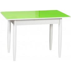 Раздвижной стол Форт Прямоугольный зеленый белый ноги конус