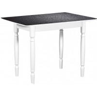 Раздвижной стол Форт Прямоугольный черная кожа ноги точеные