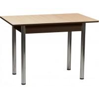 Раздвижной стол Форт Прямоугольный венге светлый  венге ноги хром