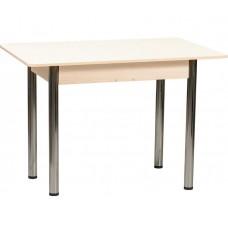 Раздвижной стол Форт Прямоугольный кремовый глянец ноги хром