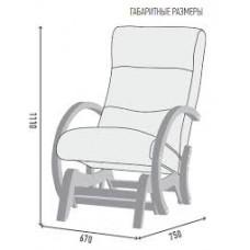Кресло-качалка глайдер ГринТри Мэтисон береза/ткань миндаль