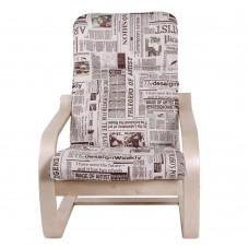 Кресло ГринТри Сайма береза/ткань Газета