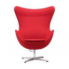 Кресло Яйцо EGG (кашемир) красный
