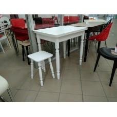 Раздвижной стол Форт Ломберный 80х60 беленый дуб ноги хром