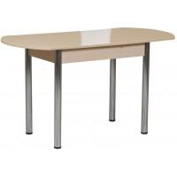 Раздвижной стол Форт Европейский персиковый перламутр ноги хром