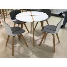 Стол обеденный нераздвижной JASMINE Жасмин круглый белый D90 см