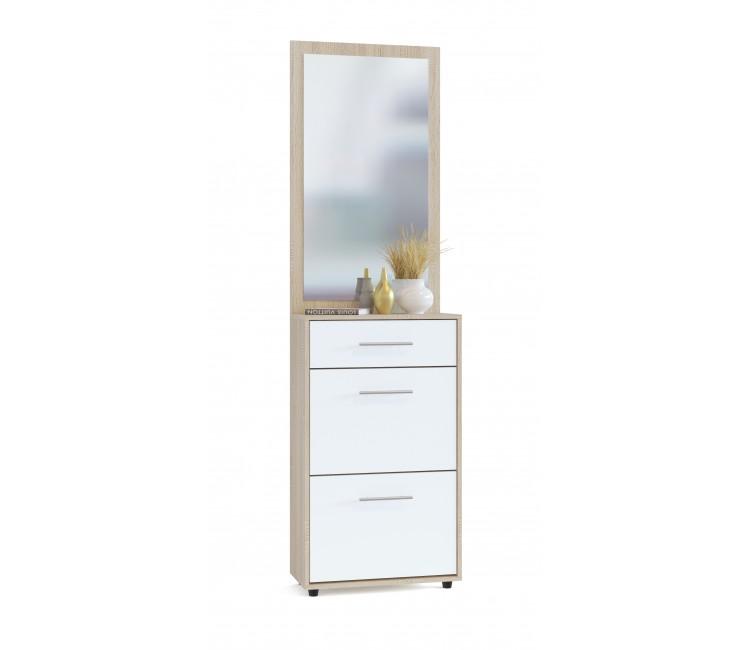 Шкаф для обуви с зеркалом Сокол ТП-2 + ПЗ-3