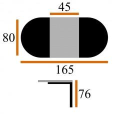 Стол Виста Рио 80х120 (165) белый
