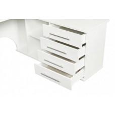 Компьютерный стол Тэкс Грета-16 левый белый