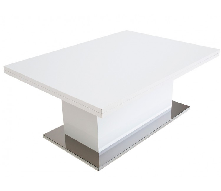 Стол Levmar Slide белый глянец