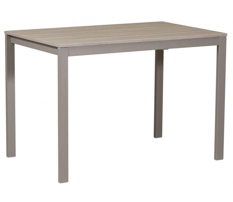 Стол Виста Ахен 70х110 (160) дуб серый + муар тортора