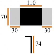 Стол Виста Париж 70х110 (170) венге