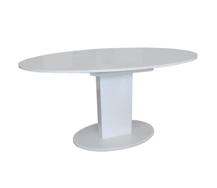 Стол Виста Торонто 96х150 (195) супер белый