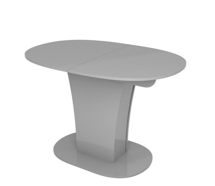Стол раскладной TURIN (Овальный) Серый Глянец