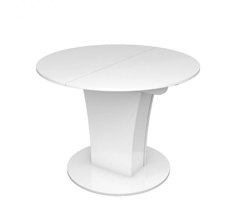 Стол раскладной TURIN (Круглый) Белый Глянец