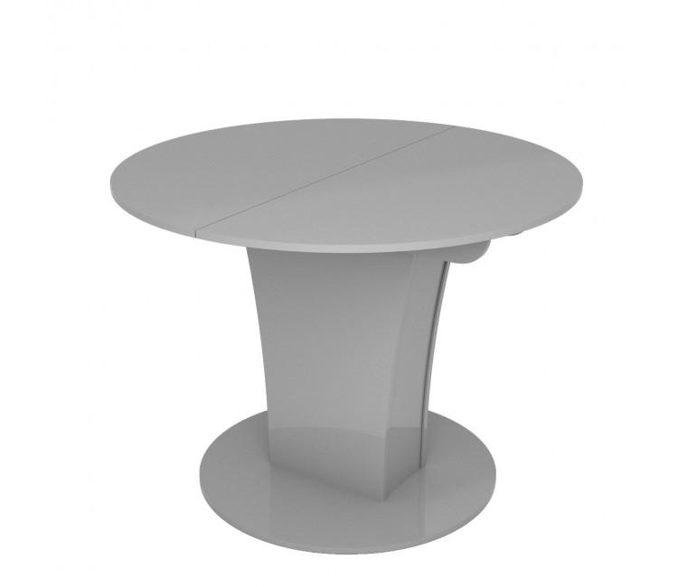 Стол раскладной TURIN (Круглый) Серый Глянец