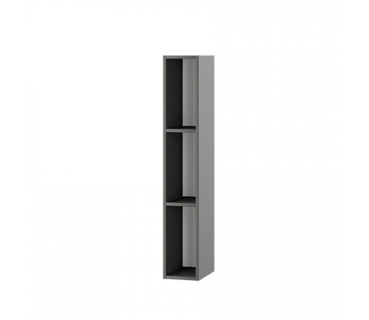 Пенал настенный открытый Альберо графит серый