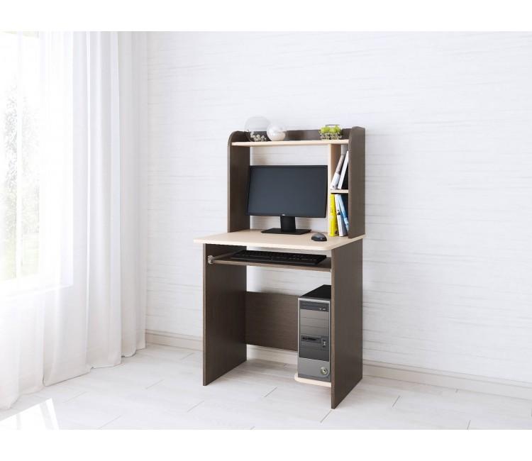 Компьютерный стол Тэкс Грета-1 венге цаво / дуб молочный